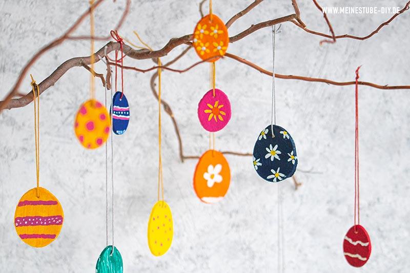 Salzteig Ostern: Oster-Anhänger, meinestube-diy