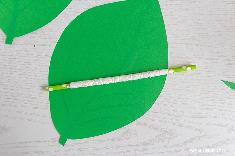 Taschentuch auf Strohhalm, meinestube-diy
