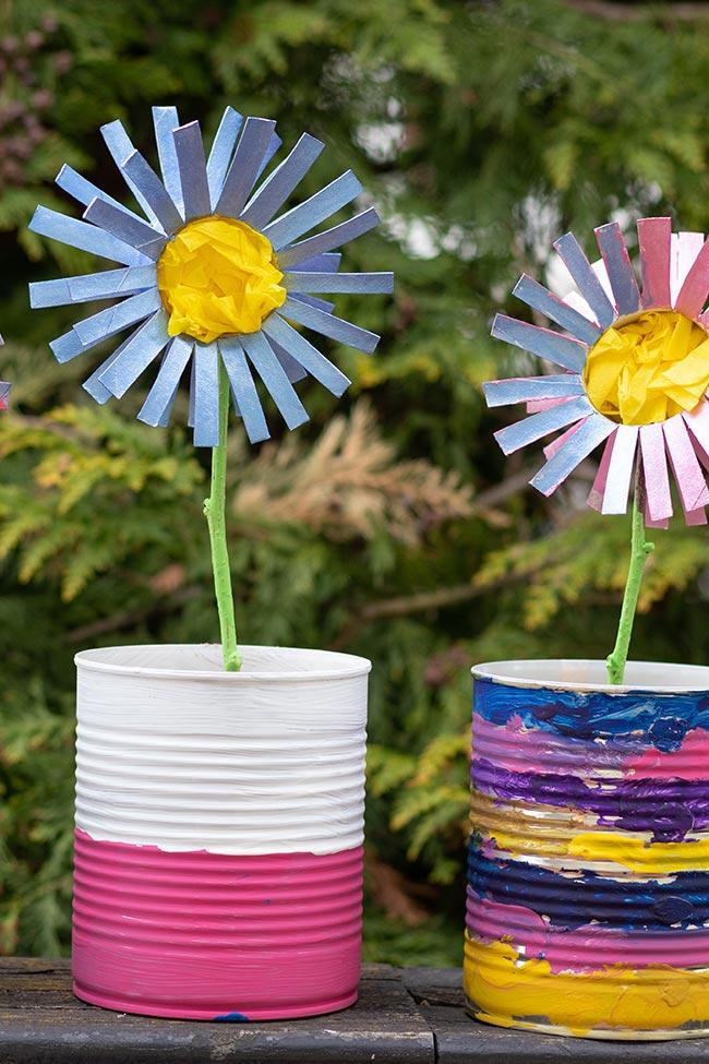 Blume basteln Klopapierrolle, meinestube-diy