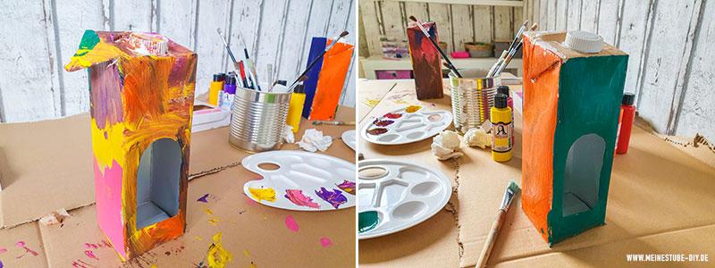 Vogelhaus mit Acrylfarbe basteln, meinestube-diy