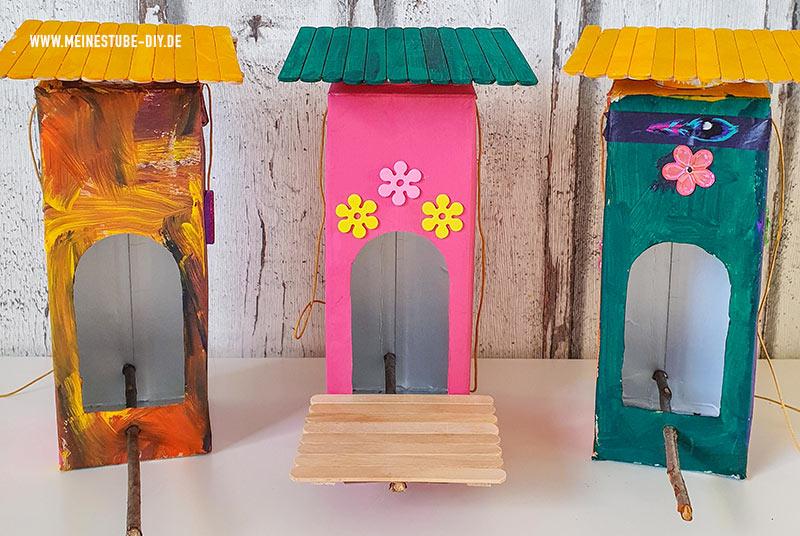 Gebasteltes Vogelhaus aus Tetrapak, meinestube-diy