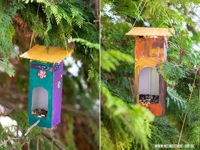 Vogelhaus von Kindern gebastelt, meinestube-diy